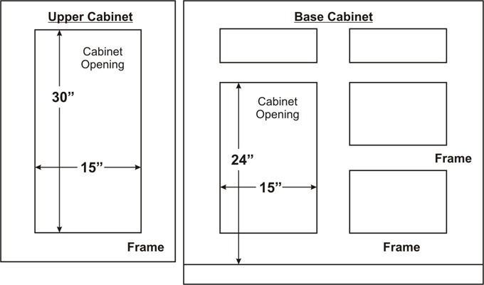 Typical Cabinet Door Dimensions Best Home Decoration World Class